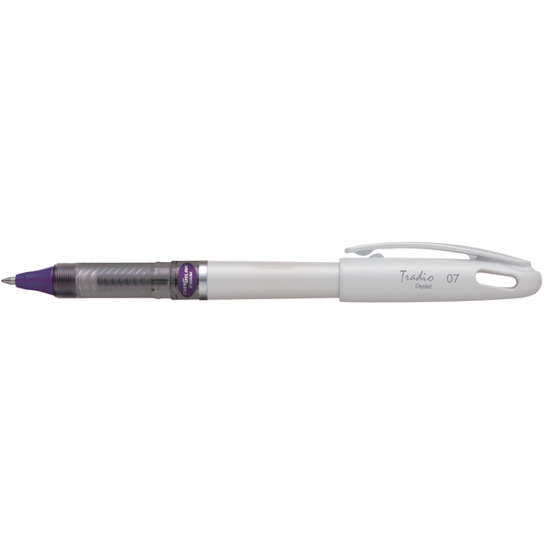 Pentel Energel Tradio White Barrel Violet Ink [Pack of 12]