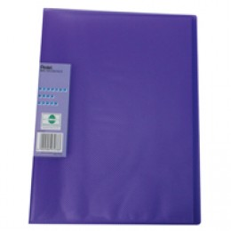 Pentel Recycology Display Book Vivid 30 Pocket Violet [Alternative Picture 2]
