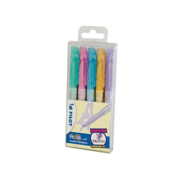 Pilot Frixion Light Highlighters Assorted [Pack of 5]