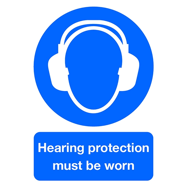 Mandatory Sign:Hearing Protection Must be Worn A4 PVC