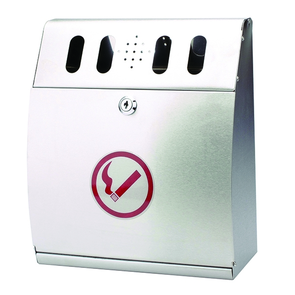 Sterling External Wall Ash Bin Curved 3.7 Litre
