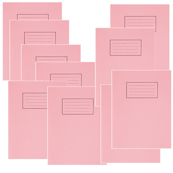 Silvine 9x7 Inch Exercise Books 80 Page 75g Pink [Pack of 10]