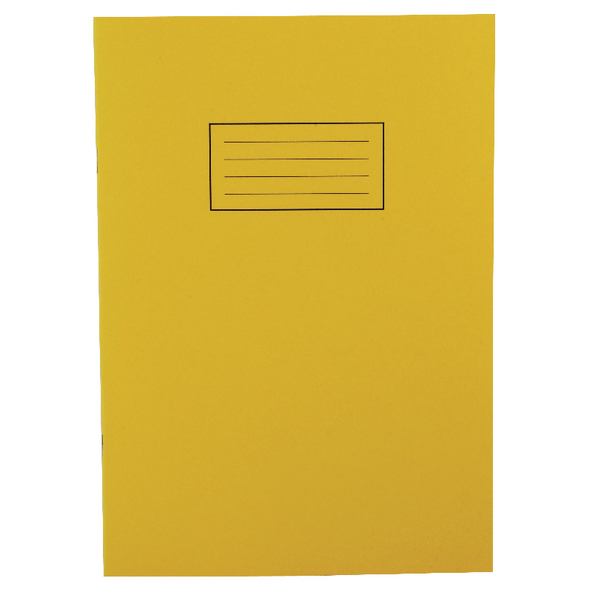 Silvine Tough Shell Exercise Book A4 Feint Ruled with Margin Yellow [Pack of 25]