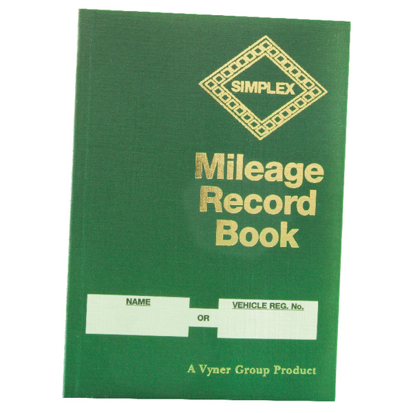 Simplex Mileage Record Book