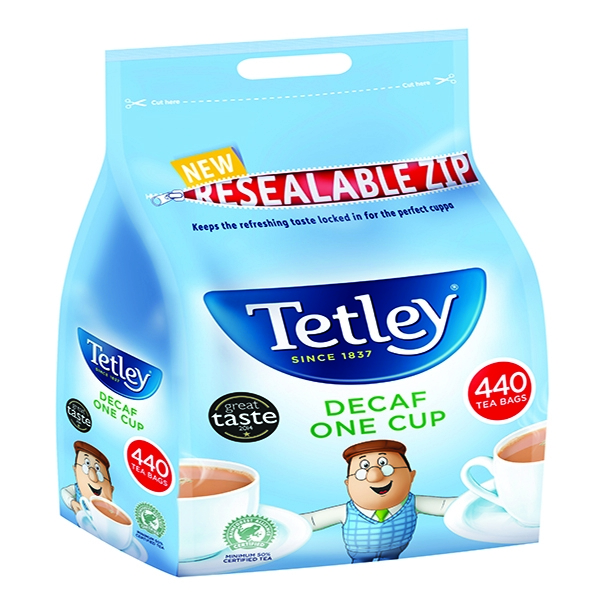 Tetley One Cup Decaf Teabags [Pack of 440]