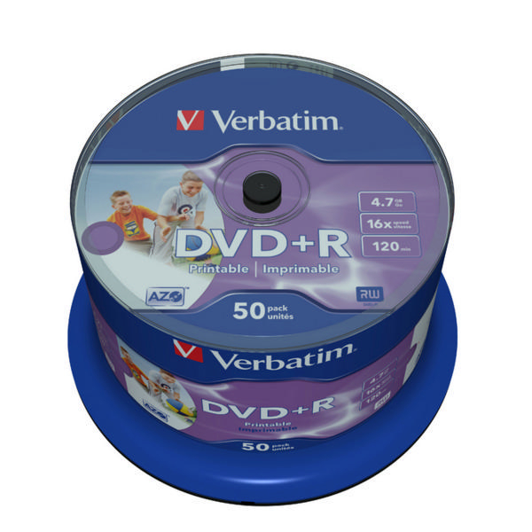 Verbatim DVD+R 16x 4.7Gb Spindle [Pack of 50]