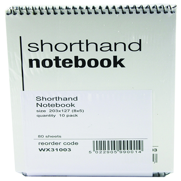 Shorthand Notebook 80 Leaf [Pack of 10]