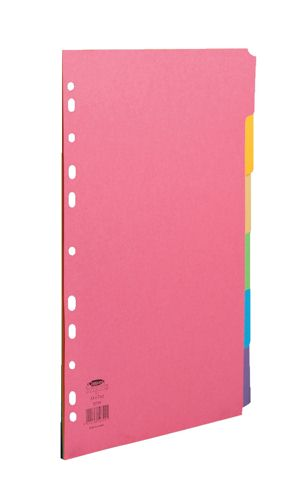 Concord Bright Divider A4 6 Part Elba A4 Extra Wide 5 Part Card Divider Multi-Coloured