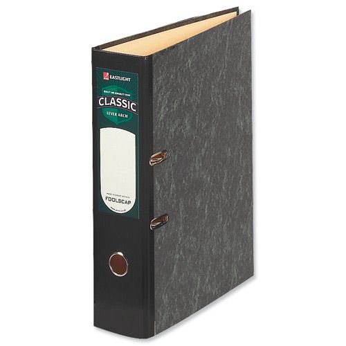 Acco Classic 80 Lever Arch File Foolscap Slotted [Pack of 10]