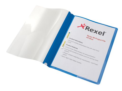 Rexel Nyrex 80 Project File A4 Blue [Pack of 5]