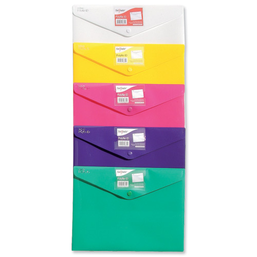 Snopake Polyfile ID Assorted Colours [Pack of 5]
