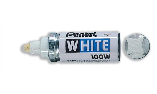 Pentel Valve-Controlled White Marker [Pack of 12]