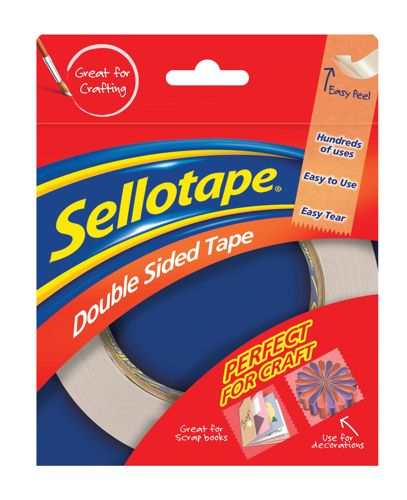 Sellotape Double Sided Tape 12mmx33m [Pack of 12]