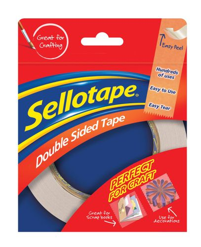Sellotape Double Sided Tape 15mmx5m [Pack of 12]