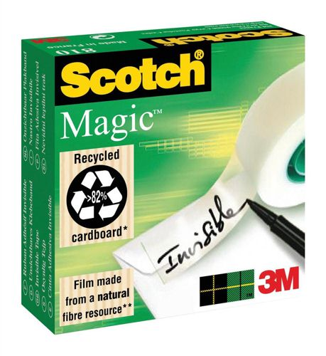 Scotch 810 Magic Tape 12mmx66m [Pack of 2]