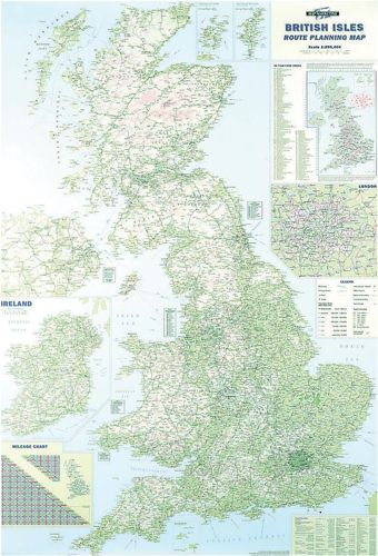 British Isles Motoring Map