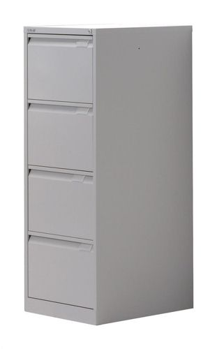 Bisley Filing Cabinet 4 Drawer Lockable Flush Grey