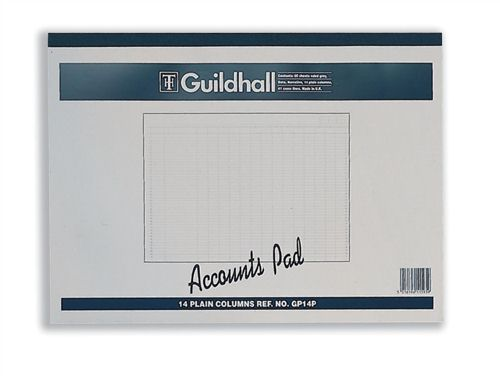 Guildhall Account Pad 14 Cash Columns