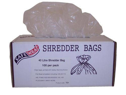 Safewrap Shredder Bags 40 Litre [Pack of 100]