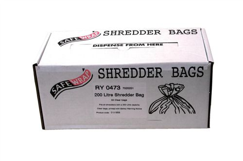 Safewrap Shredder Bags 200 Litre [Pack of 50]
