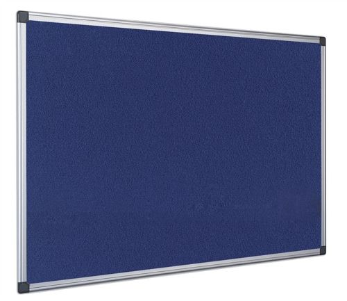 Bi-Office Earth-It Executive Felt Noticeboard Blue 900x600mm with Aluminium Frame
