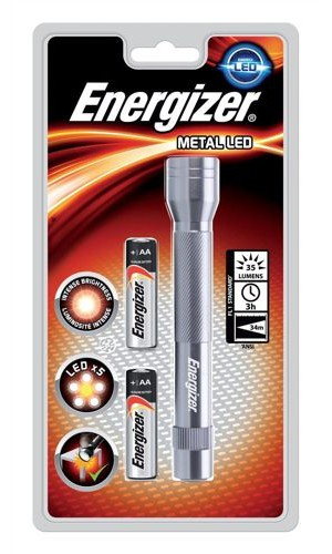 Energizer Metal LED Torch Silver