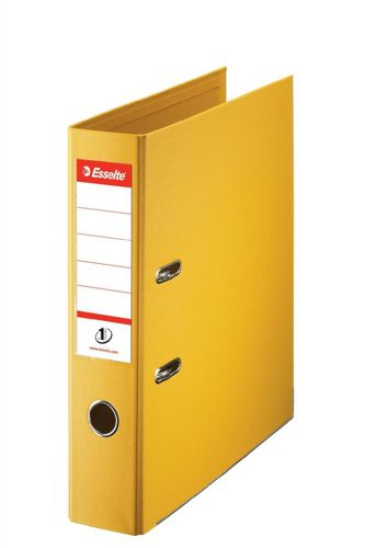 Esselte A4 Lever Arch File PVC 75mm Yellow [Pack of 10]
