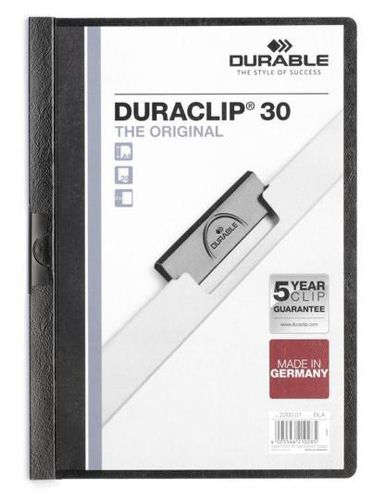 Duraclip File A4 3mm Black [Pack of 25]