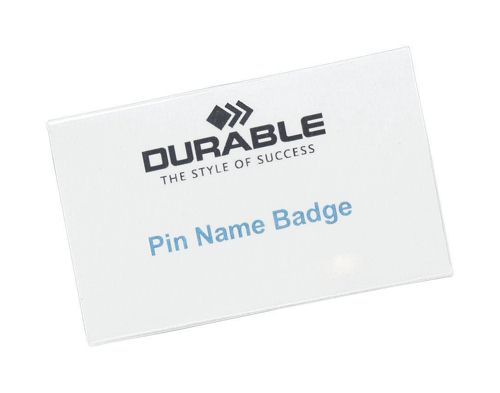 Durable Badge 40x75mm Pinfix [Pack of 100]