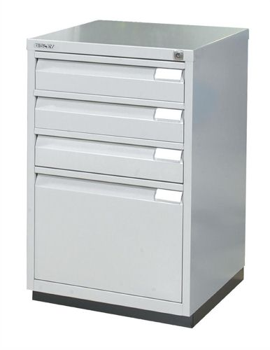 Superior Bisley Filing Cabinet 3 Small Drawer Plus 1 Large Drawer Grey