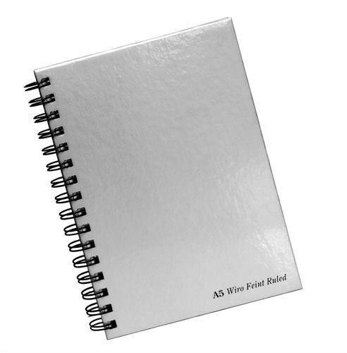 Pukka Pad Wirebound Book A5 Silver [Pack of 5]