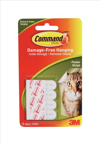 3M Command Adhesive Poster Strip [Pack of 12]