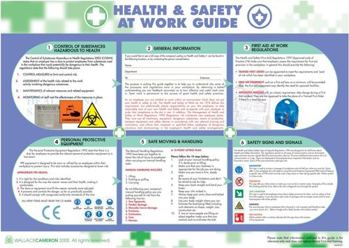 Wallace Cameron Poster Health and Safety at Work 590x420mm
