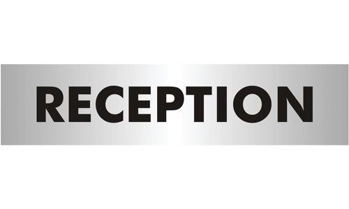 Acrylic Sign:Reception 190x45mm