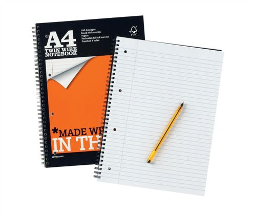 Silvine Notebook Wirebound Perforated Punched Ruled A4 [Pack of 6]