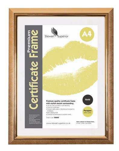 Certificate Frame A4 Satin Gold