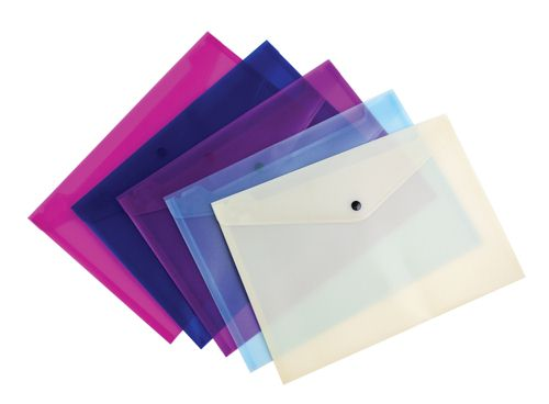 Snopake Lite Polyfile A4 Assorted [Pack of 5]