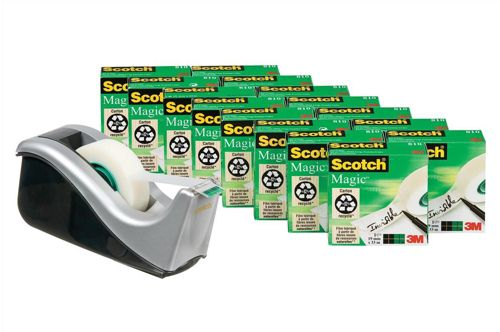 Scotch 810 Magic Tape with Free Dispenser [Pack 16+1 Dispenser]