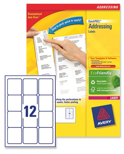 Avery Laser Labels L7164-100 12/Sheet [Pack of 100 Sheets]