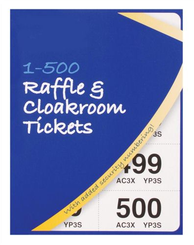 Silvine Cloakroom Ticket 1-500 [Pack of 12]
