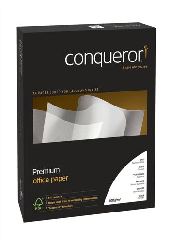 Conqueror Laid Brilliant White A4 100g [Pack of 500]
