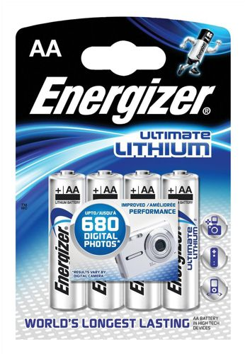 Energizer E2 Lithium Batteries AA [Pack of 4]