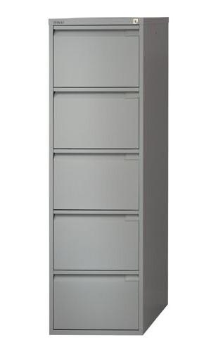 pretty nice e9115 f8ea1 Bisley Filing Cabinet 5 Drawer Lock Grey Flush