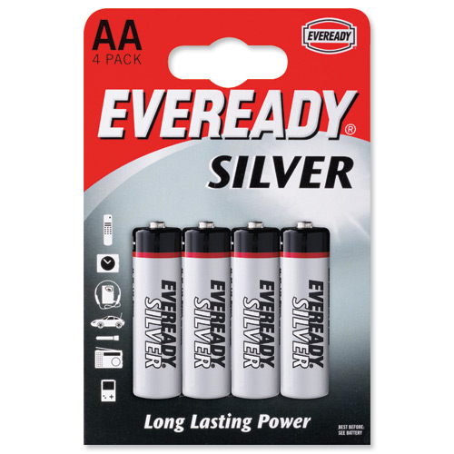 Eveready Batteries Silver AA [Pack of 4]