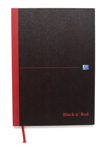 Black n Red A5 Book Recycled [Pack of 5]