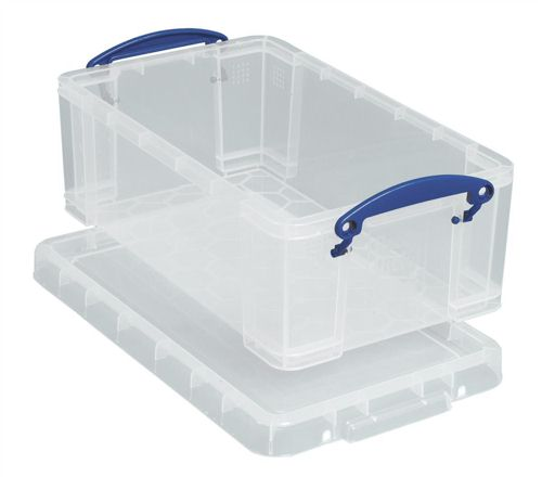 Really Useful 9 Litre Box with Lid Clear