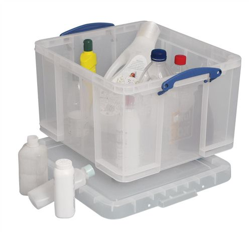 Really Useful 42 Litre Box and Lid Clear
