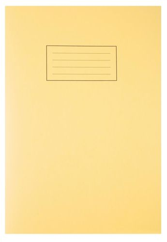 Silvine A4 Exercise Book 80 Pages Yellow [Pack of 10]