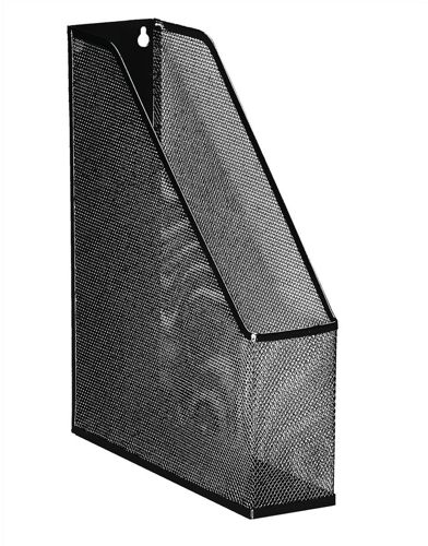 Mesh Magazine File Scratch Resistant with Non Marking Rubber Pads A4 Plus Black [Alternative Picture 1]