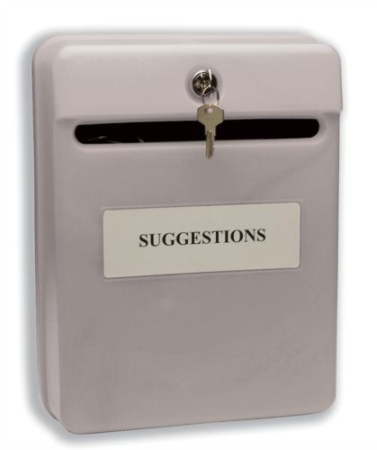 Helix Post Suggestion Box Grey